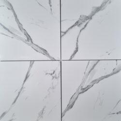 Sky White Porcelain Marble Effect 60X60cm Kitchen Shower Wall Floor Tile