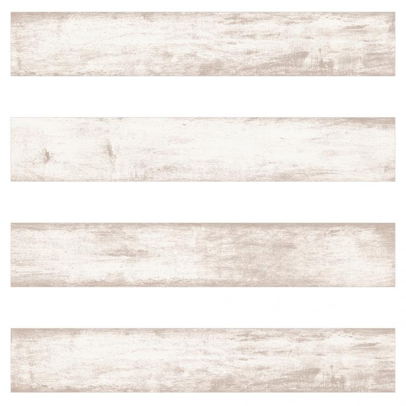 Varnished White Wooden Effect TilesJPG